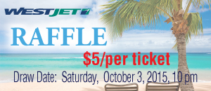 2015 West Jet Raffle Ticket Sale